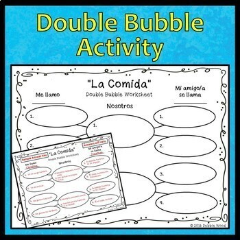 Spanish Food Activities La Comida by Debbie Wood | TpT