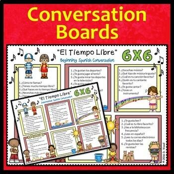 Back to School Spanish Activities Conversation (Free Time Activities)