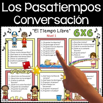 Spanish Conversation Free Time Activities (Beginning and I