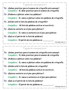 Spanish Conversation Cards - 1