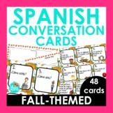 Spanish Conversation Cards | Fall Edition