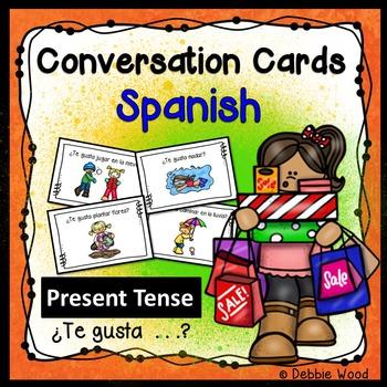 Spanish Conversation Cards Likes and Dislikes (El Verbo Gustar)