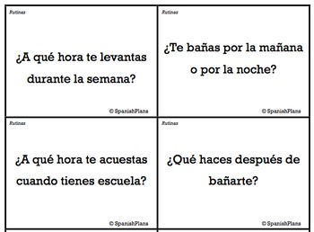 Spanish Conversation Cards Level II - Oral Speaking Activity