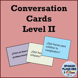 Spanish Conversation Cards Level II - Oral Speaking Activity