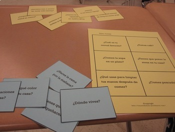 Spanish Conversation Cards Levels 1 & 2 - Oral Speaking Activity