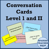 Spanish Conversation Cards Levels 1 & 2 - Oral Speaking Activity BUNDLE