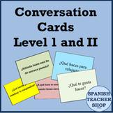 Spanish Conversation Cards Levels 1 & 2 - Oral Speaking Ac