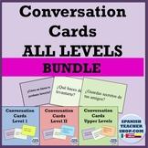 Spanish Conversation Cards Levels 1-4 BUNDLE