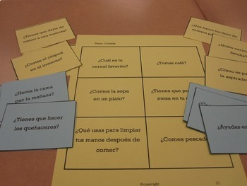 Spanish Conversation Cards Levels 1-4 BUNDLE