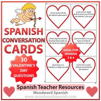 Spanish Conversation Cards - Valentine's Day - Spanish 3