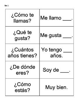 FREE Spanish Conversation Flash Cards