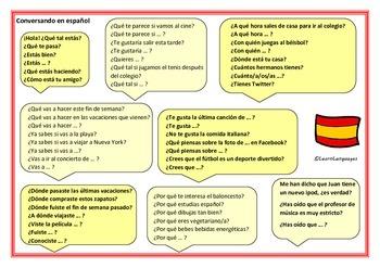 Spanish: Conversation Placemat