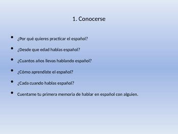 Spanish Conversation Presentation