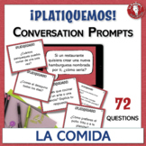 Spanish Conversation Prompts - 72 Leveled Questions about Food