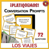 Spanish Conversation Prompts - 72 Leveled Questions about Travel