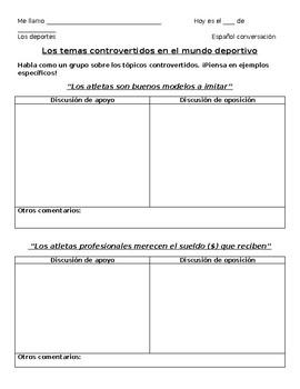 Spanish Conversation - Sports Debate