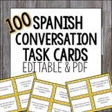 Spanish Conversation Task Cards Present Tense - Spanish Speaking Practice