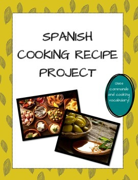 Spanish Cooking Recipe Project - Commands