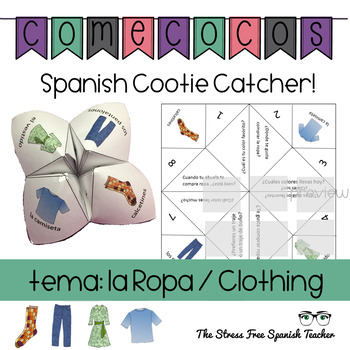 Spanish Fortune Teller: CLOTHING, LA ROPA, Cootie Catcher,