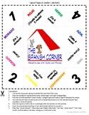 Spanish Cootie Catcher (Saca Piojos) with Numbers, Colors,