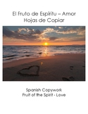 Spanish Copywork - Fruit of the Spirit - Love