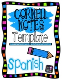 Spanish Cornell Notes Template