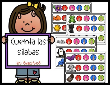 Spanish Count the Syllable Strips
