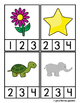 Spanish Counting Syllables Clip Cards
