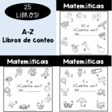 Spanish Counting books A-Z Bundle!