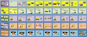 Spanish Countries Capitals Flags Breakfasts Southamerican Lapbook-sub plans-PBA