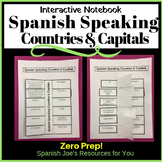 Spanish Countries & Capitals Interactive Notebook