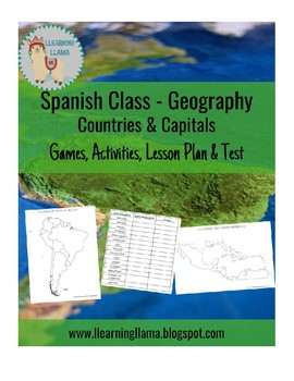 Spanish Countries and Capitals Geography Mini Unit