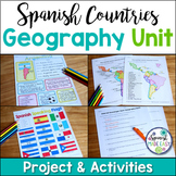Spanish Countries and Capitals Geography Unit