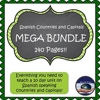 Spanish Countries and Capitals MEGA BUNDLE