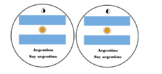 Spanish Country Desk Flag Tags
