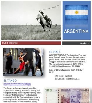 Spanish - Country Focus - Argentina
