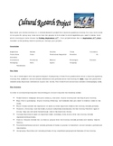 Spanish Country Research Project (could be used with any language)