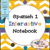 Spanish 1 -  Interactive Notebooks