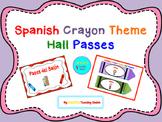 Spanish Crayon Theme Hall Passes