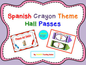Spanish Crayon Theme Hall Passes