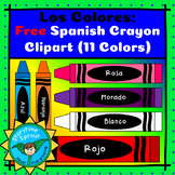 Spanish Crayons Clipart: Colores en Español (11 Free Images)