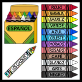 Crayons in Spanish / Spanish Colors (High Resolution)