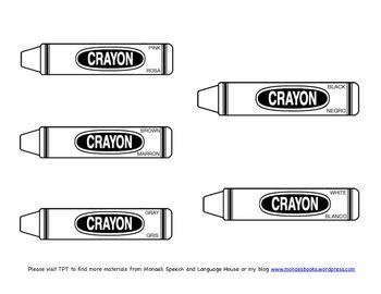 Spanish Crayons/Coloring Activity