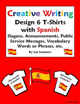 Spanish Creative Writing T-Shirt Activity - Design and Lab