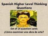 Spanish AP Level Critical Thinking Question Cards-ARTE-Set 14