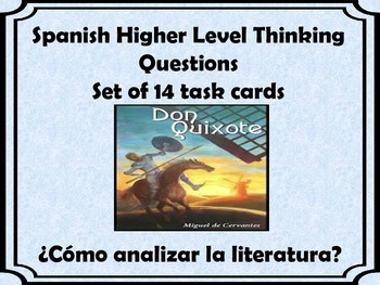 Spanish AP  level Critical Thinking Question Cards-LITERATURA-Set 14