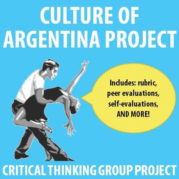 Spanish - Critical-thinking Mini-Project on Culture of Argentina