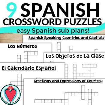 Spanish Crossword Puzzle Teaching Resources | Teachers Pay Teachers