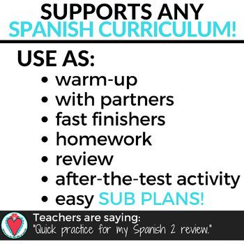 Spanish Crossword Puzzle Bundle
