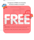 Spanish Crossword Means of Transport Vocab.//Crucigrama en